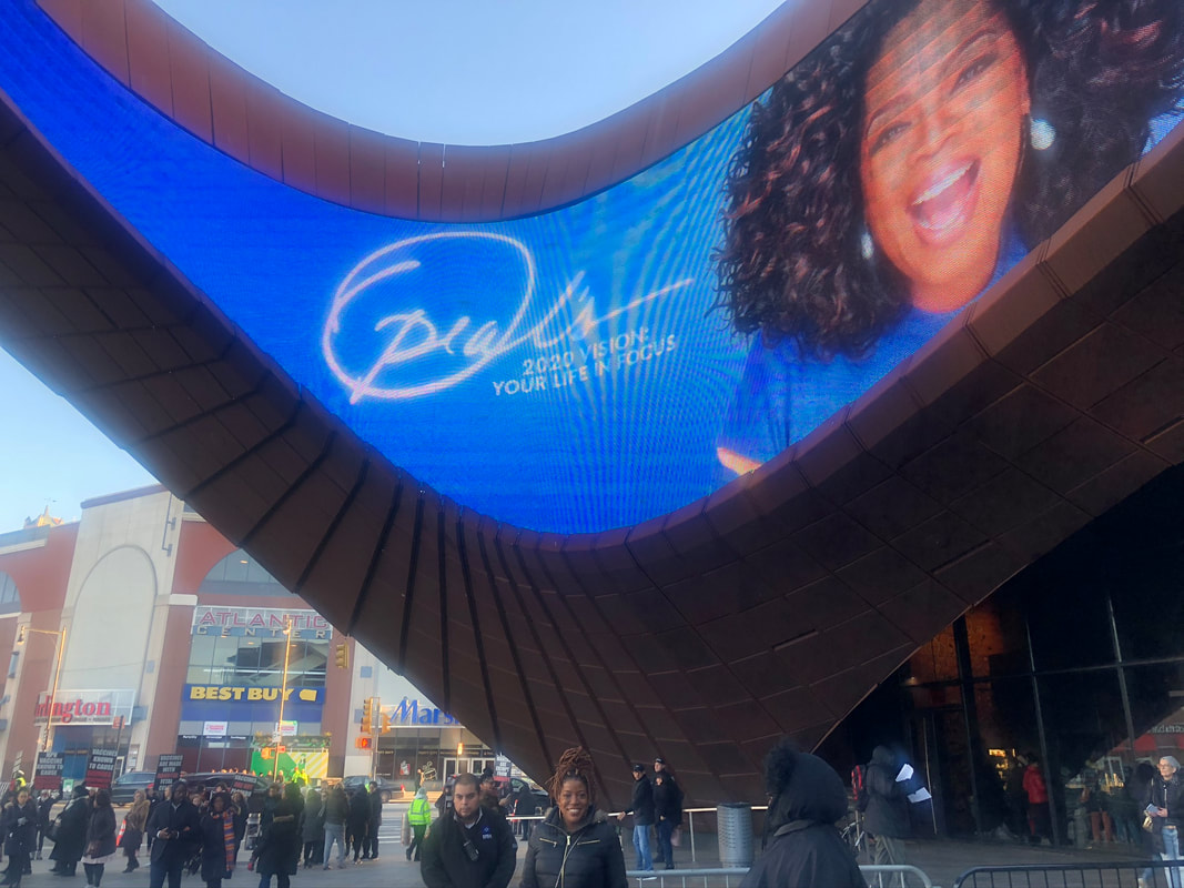 Jennifer D. Laws attends Oprah's 2020 Vision: Your Life in Focus tour at Barclays Center in Brooklyn on February 8, 2020.