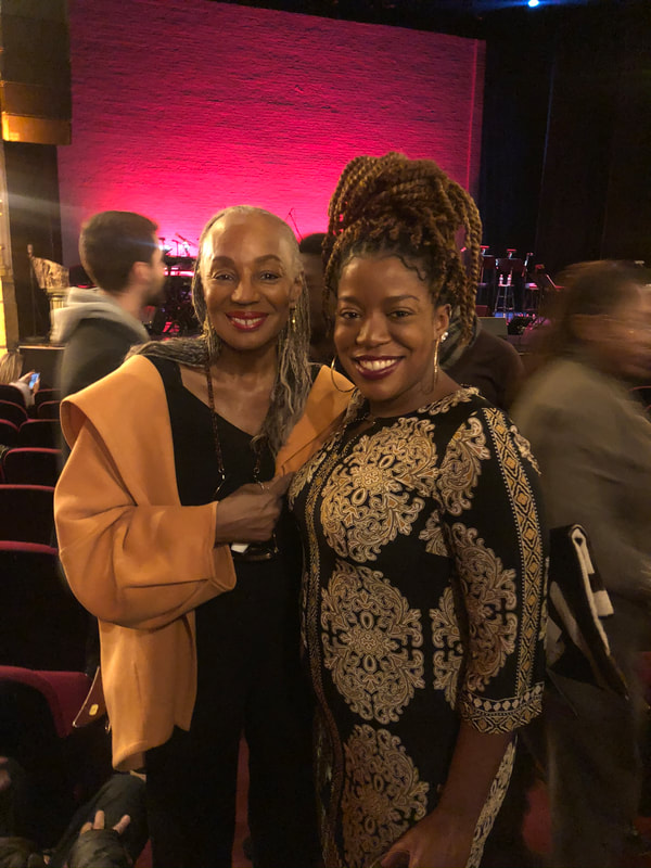 Susan L. Taylor, Essence Magazine Editor-in-Chief, emeritus and Jennifer D. Laws attend the Harry Belafonte Birthday Celebration at the Apollo Theater on March 1, 2020.