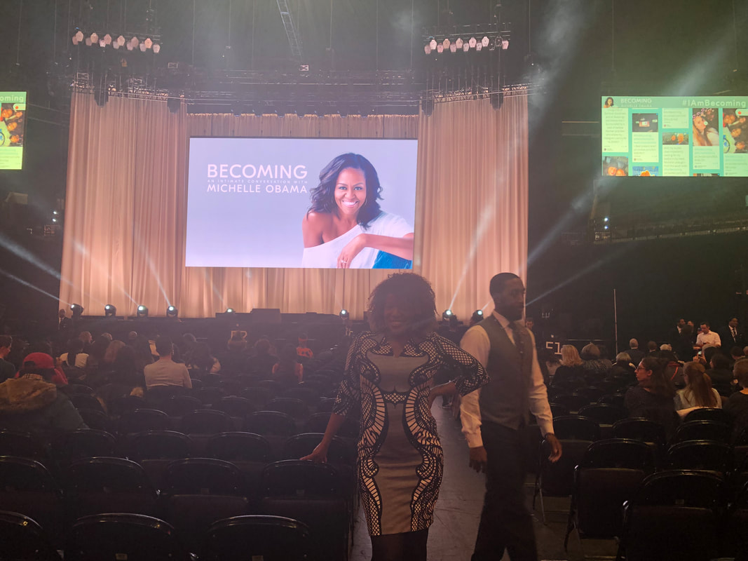 Jennifer D. Laws inside Barclays Center at BECOMING: An Intimate Conversation with Michelle Obama