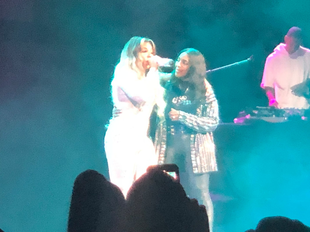 Ashanti brings her mom on stage while she performs at Mother's Day Good Music Festival at Barclays Center on May 10, 2019.